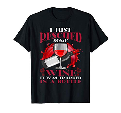 Broma sobre el vino rescatado de la botella Camiseta