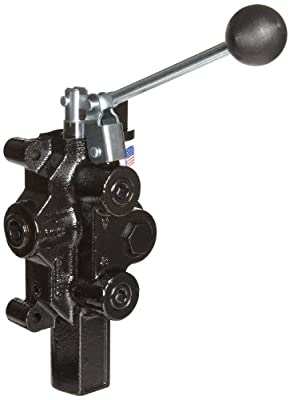 "Prince RD-2575-T3-ESA1 Directional Control Valve, Logsplitter, 3 Ways, 3 Positions, Spring Center To Neutral, Cast Iron, 3000 psi, Lever Handle, 20 gpm, In/Out: 3/4"" NPTF, Work 1/2"" NPTF from Prince Manufacturing"
