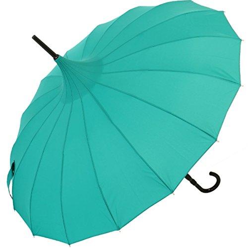 Regenschirm Pagode Cecile smaragdgrün