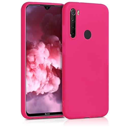 kwmobile Funda Compatible con Xiaomi Redmi Note 8 (2019/2021) - Funda Carcasa de TPU Silicona - Protector Trasero en Rosa neón