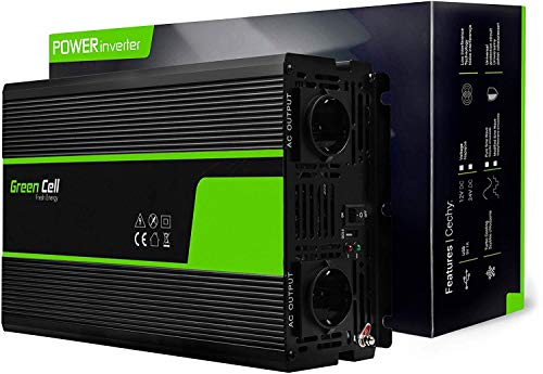 Green Cell® 3000W/6000W 12V auf 230V Modifizierte Sinus Spannungswandler Wechselrichter Modified Sine Wave Power Inverter Umwandler für Auto, Direktanschluss an Autobatterie inkl.