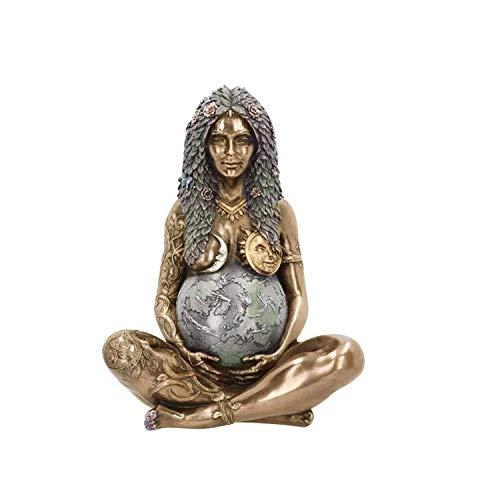 Mother Earth Statue ,Erde Mutter Figur Garten Ornament im Freien Dekor, ätherische Mutter Erde Gaia Kunst Statue Polyresin Figur für Home Office Dekoration (1pc)