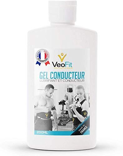 VEOFIT Leitfähiges Elektroden Kontakt Gel für EMS TENS Geräte, Elektrostimulatoren, Elektroden Pads – Verbessert den Elektrodenkontakt und schützt die Haut