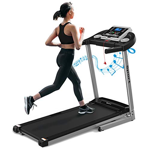 Electric Folding Treadmill for Home, Foldable Treadmill Machine for Walking/Running Portable Treadmill Incline/Fold up Small Space