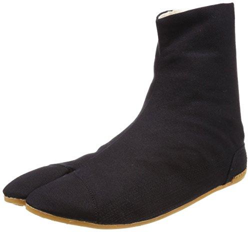 Ninja Tabi Shoes Low Top Comfort-Cushioned ! Black Rikio JikaTabi) (Black, JP 26.5cm approx. US Men size 8.5; Woman size 10)