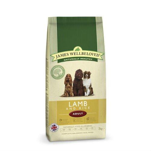 James Wellbeloved Croquettes pour chien adulte Agneau et riz 2 kg