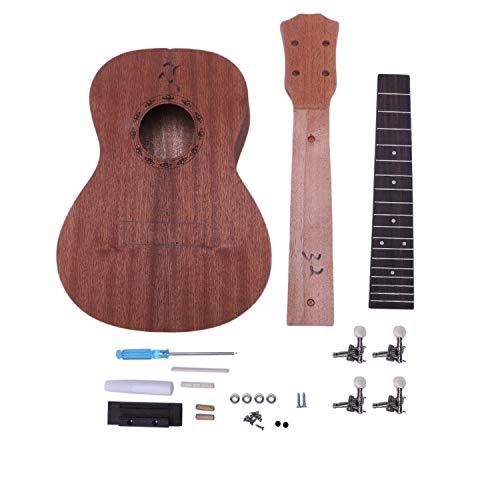 Cuasting Konzert Ukulele Diy Kit 23 Zoll Mahagoni 4 Saiten Hawaiian Gitarre für Handarbeit Malerei Perfekte Eltern-Kind-Kampagne