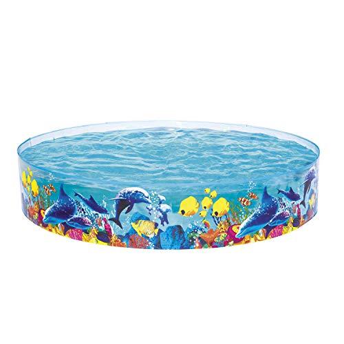 Bestway Fill 'N Fun - Piscina per Bambini, Decorata con Immagini di pesciolini e Coralli, Diametro...