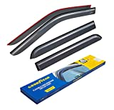 Goodyear Shatterproof Side Window Deflectors for Trucks Ford F-150 2015-2020 SuperCrew, Tape-on Rain Guards, Vent Window Visors, 4 Pieces – GY003112