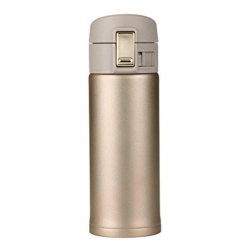 Moent 350 ml Reisebecher Bürokaffee Tee Warmwasserflaschenbecher, hochwertiger Isolierbecher mit Sprungdeckel