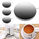 Wehhbtye 3 Pack USB Smart Cup Warmer-USB Coffee Mug Warmer,Desk Coffee Mug Heating Plate for Warming Heating Coffee, Beverage, Milk, Tea and Hot Chocolate (Up To 131F/55C)