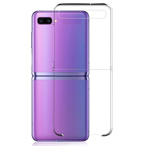 NEWZEROL Hülle für Samsung Galaxy Z Flip 5G[Slim-Fit] [Anti-Scratch] [Stoßdämpfung] Schutzhülle PC-Handyhülle für Samsung Galaxy Z Flip 5G-Transparent