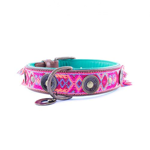 Dog with a Mission DWAM Halsband Boho Rosa - M (4 cm)