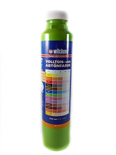 Qualitäts Abtoenfarbe - Volltonfarbe / 750 ml/matt - 14 Farben zur Auswahl (Apfelgrün)