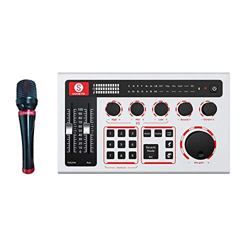SabineTek Official SabineCast Bluetooth Mixer Sound Card Mixing Console Microphone for Live Streaming Broadcast