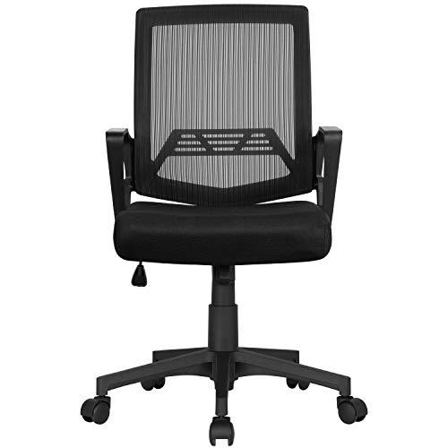 Yaheetech Bürostuhl Ergonomischer Schreibtischstuhl Drehstuhl mit Mesh Netz Computerstuhl Chefsessel Office Stuhl stufenlos höhenverstellbar