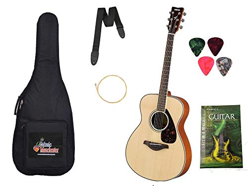 Standzo Yamaha F280 Acoustic Guitar, Natural with Padded Carry bag, Belt, 4 picks and string combo pack