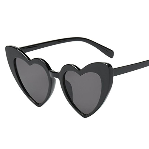 Huhu833 Mode Damen Retro Fashion Heart-shaped Shades Sonnenbrille Integrierte UV-Brille Reise Sonnenbrille (E)