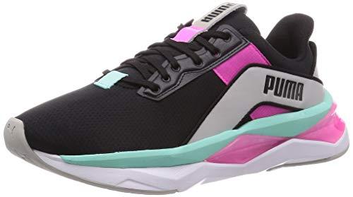 PUMA Damen Lqdcell Shatter Xt Geo WNS Gymnastikschuh, Black-Gray Violet-Luminous Pink, 39 EU