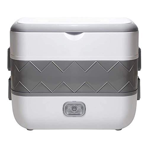 fiambrera Caja de almuerzo, mini bento, calentador de alimentos portátiles Almuerzo para el almuerzo para el hogar 2 capas de vaporizador con tazones de acero inoxidable, estante al vapor, capa doble