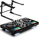 Herkules DJControl Inpulse 500 - Controlador de DJ (2 cubiertas, soporte para portátil keepdrum...