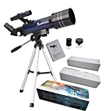 GEERTOP Ultra-Clear Astronomical Refractor Tabletop Telescope with Tripod Finder Scope 400X70mm for Beginner