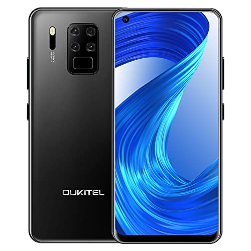 OUKITEL C18 Pro Teléfono Móvil Libre 2021, Cámara AI de Cuatro Lentes 16MP+8MP+5MP+2MP, Pantalla HD+6.55 Pulgadas,4GB+64GB, Smartphone Libres,Helio P25 Octa-Core, Batería 4000 mAh,Android 9.0,Dual 4G
