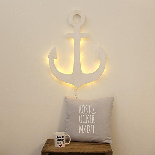 ilka parey wandtattoo-welt Anker Lampe Wandlampe Wandleuchte maritim Schiffsanker Bootsanker mit LED M2036