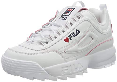FILA Disruptor V-day wmn zapatilla Mujer, blanco (White/Fila Red), 39 EU