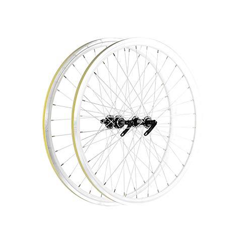 700C Fahrradradsatz Doppelwandige Felge aus Aluminiumlegierung 30 MM Bremse Schnellspanner Geeignet FüR Rennrad Laufradsatz Stumm/Silber/Bike wheelset