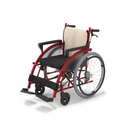 【フランスベッド】車椅子!メーカー直送!Nomocaのもかシリーズ レッド「自走式」ベーシ