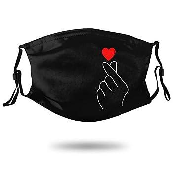Finger Heart Korean Outdoor Face Mask Bandanas Protective 5-Layer Activated Carbon Adults for Men Women Balaclava Headscarf