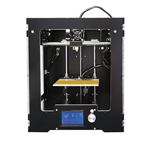 Z.L.FFLZ Imprimante 3D Machine d'impression FDM de Bureau en Aluminium d'imprimante de Haute précision d'affichage à Cristaux liquides 3D A3-S avec Le kit de Montage Complet de Filament de 10m
