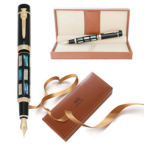 Pluma estilográfica Jinhao 650 Real Sea Shell 18KGP Nib Signature Classic Luxury Set