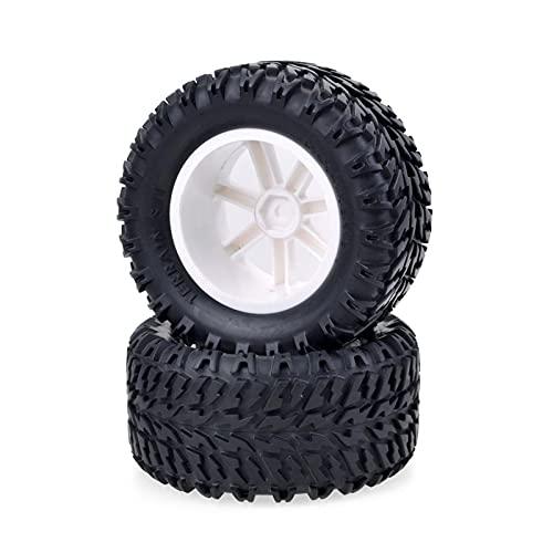 UGUTER 4 unids 112mm Curso Corto 0 Ruedas de camión Neumáticos 12 mm HUX Hex para 1/10 RC Coche 0 0 HPI XS TM Flujo (Color : 4PCS Black)