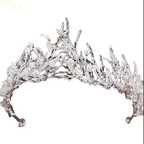 WZHZJ Pelo Princesa Headwear-Vintage Corona Hecha a Mano Art