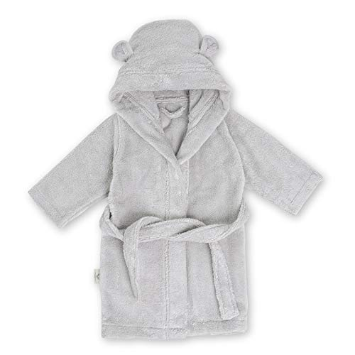 Natemia Organic Hooded Bathrobe for Babies and Toddlers – Ultra Soft and Absorbent GOTS Certified Turkish Cotton Kids Robe  Made in Turkey