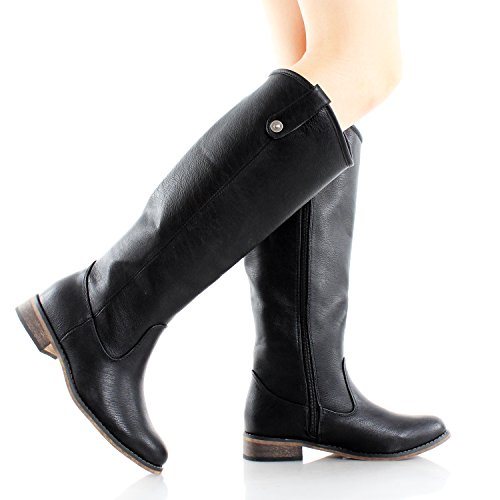 Breckelle's Rider-18 Womens Classic Knee High Riding Boots