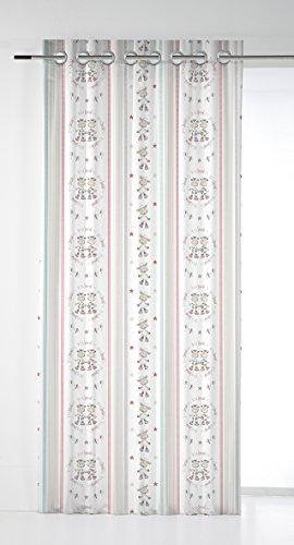 Castilla Textil Cortina, Tela, Rojo, 140 x 270 cm