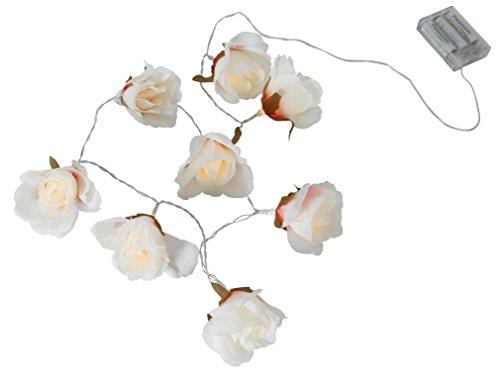 Star 726-85 Guirlande lumineuse à DEL Big Roses, 0.48 W, Blanc, 8 x 175 x 8