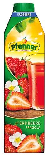 8x Pfanner - Erdbeere, mit Erdbeermark - 1000ml