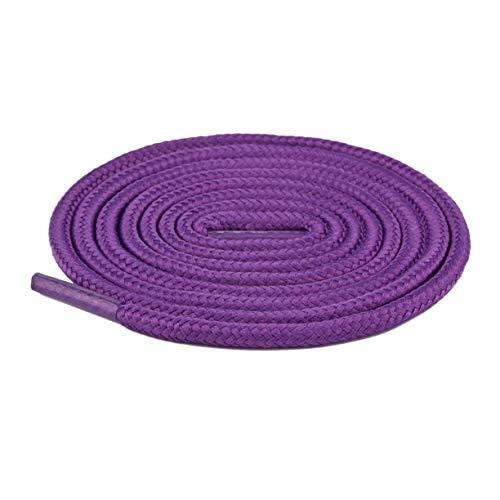 Generic Mode runde Schnürsenkel bunte farbige Schnürsenkel Sportschuhe Turnschuhe Seil Unisex elastische Laufen athletische Schnürsenkel-Dark Purple 50Cm