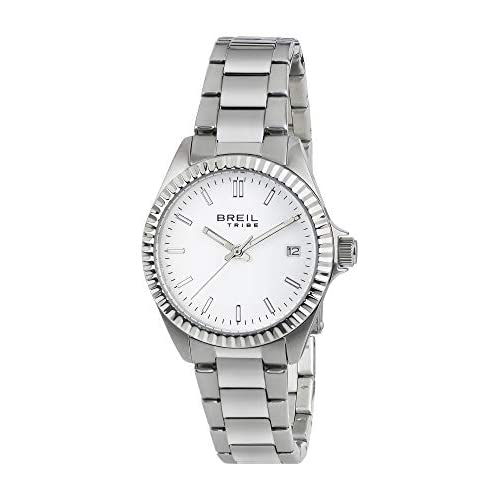 Breil Orologio Donna Classic Elegance quadrante Mono-Colore Bianco Movimento Solo Tempo - 3H Quarzo e Bracciale Acciaio EW0218