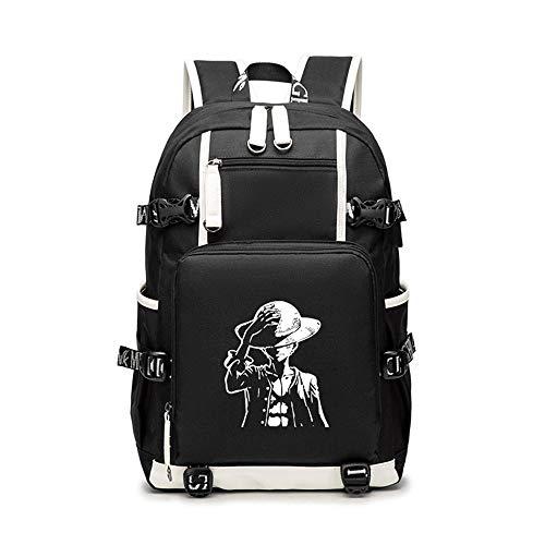 Unisex One Piece Cosplay Anime Mochila Escolar Estudiantes Mochila para Portátil Backpack Bolsa Casual Bandolera