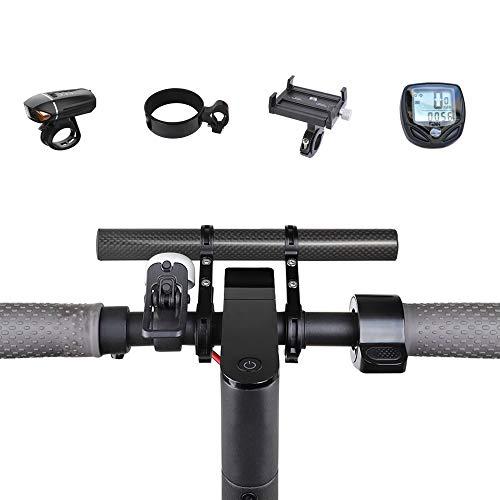 Atuka TOMALL Barra de extensión de Manillar Barra de extensión de Bicicleta Soporte de aleación de Aluminio Soporte para XIAOMI M365, Ninebot ES1 ES2, Bicicleta de montaña (Carbon Fiber)