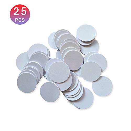 THONSEN 25pcs NTAG215 NFC Tags Round 30mm(1.18 inch) Blank White NTAG215 NFC Cards Compatible TagMo Amiibo and All NFC Enabled Mobile Phones & Devices