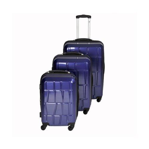 Highlight: Trolley-Koffer-Set - TOP-Design - Ultra-Light - 4 Rollen - Dehnfalte - 10 Farben
