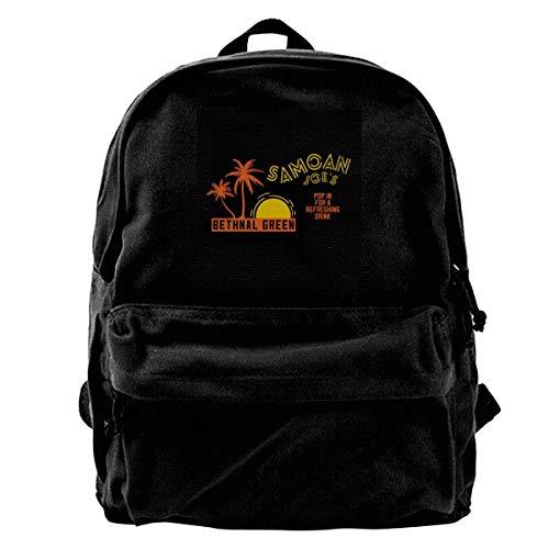 maichengxuan Canvas Backpack Samoan Joes Lovck Stock and Two Smoking Barrels, Trucker Cap Rucksack Gym Hiking Laptop Shoulder Bag Daypack for Men Women