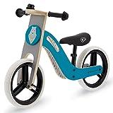 Kinderkraft Bici senza Pedali UNIQ, Bicicletta in Legno, Sella Regolabile, Ruote Resistenti, 2 Anni - 25 kg, Turquese