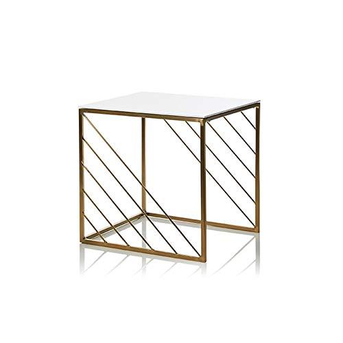 Tavolo Laterale Moderno, Tavolo Quadrato In Legno Balcone Balcone Soggiorno Soggiorno Del Divano Tavolo Laterale Nessuna Assemblaggio Tavolino Richiesto, 40 Cm / 45 Cm(Size:40*40*40.5CM,Color:bianca)